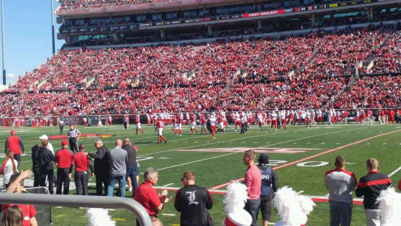 Seating view for Cardinal Stadium Section 127 Row B Seat 118