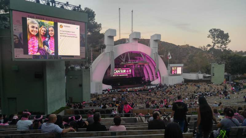 Seating view for Hollywood Bowl Section K3 Row 14 Seat 7