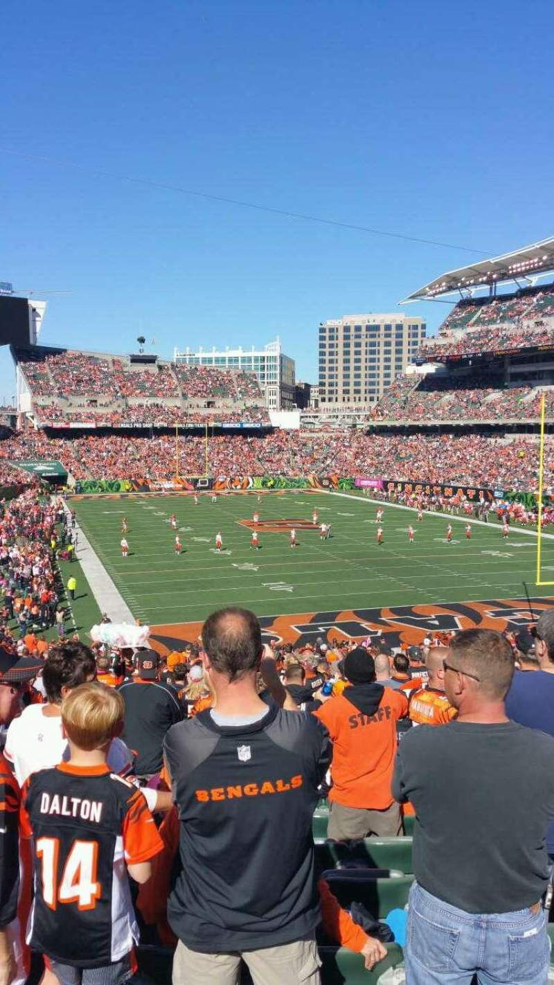 Seating view for Paul Brown Stadium Section 158 Row 39 Seat 16