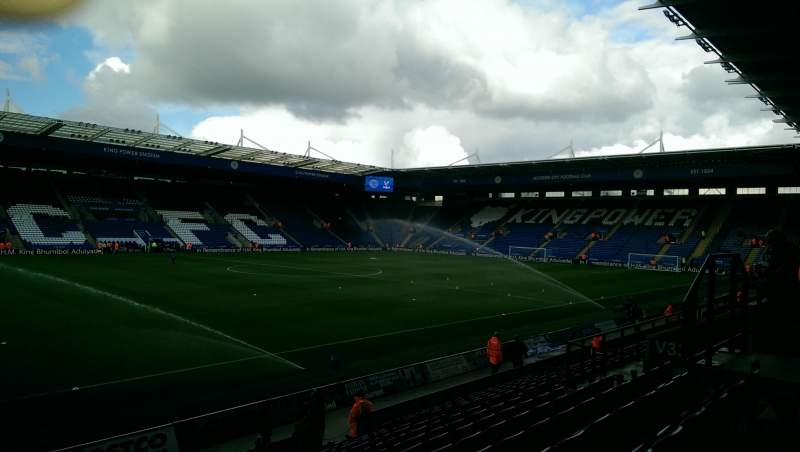 Seating view for King Power Stadium Section H1 Row P Seat 132