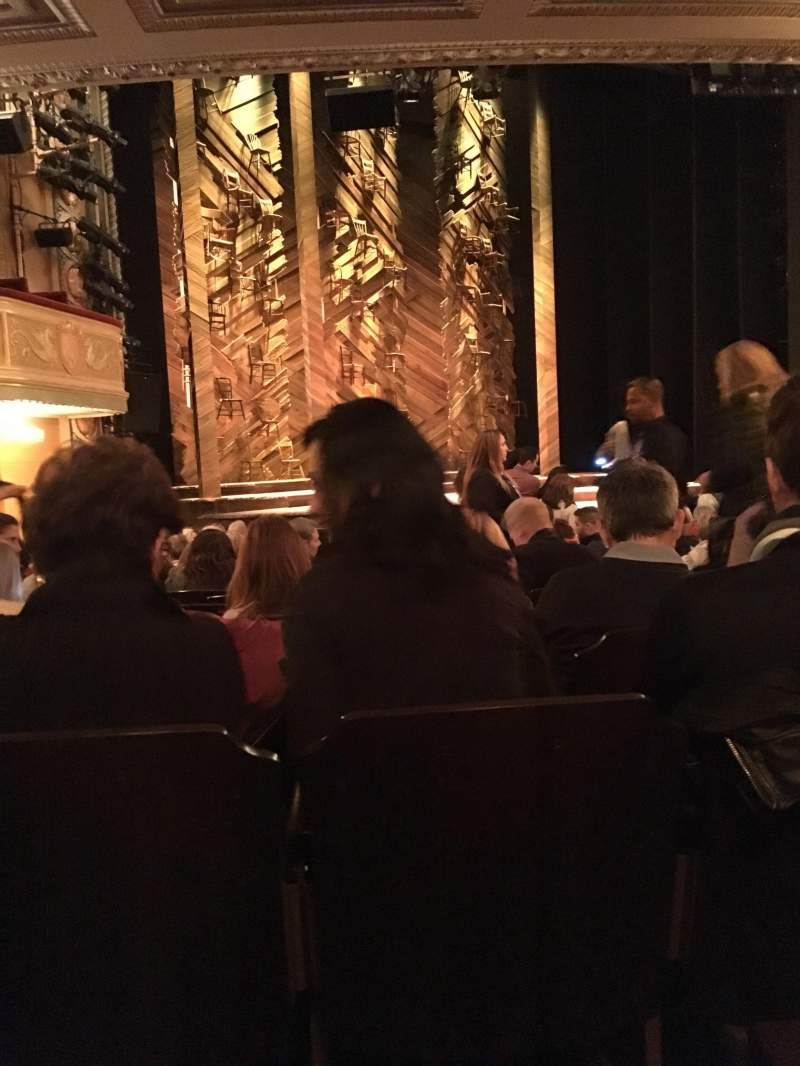 Seating view for Bernard B. Jacobs Theatre Section Orchestra L Row O Seat 13
