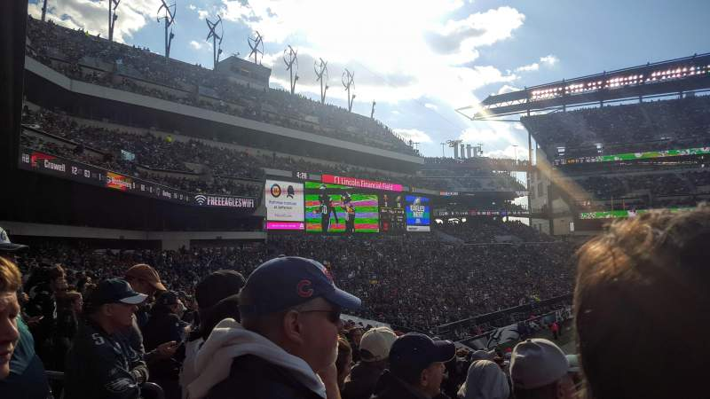 Seating view for Lincoln Financial Field Section 117 Row 29 Seat 18