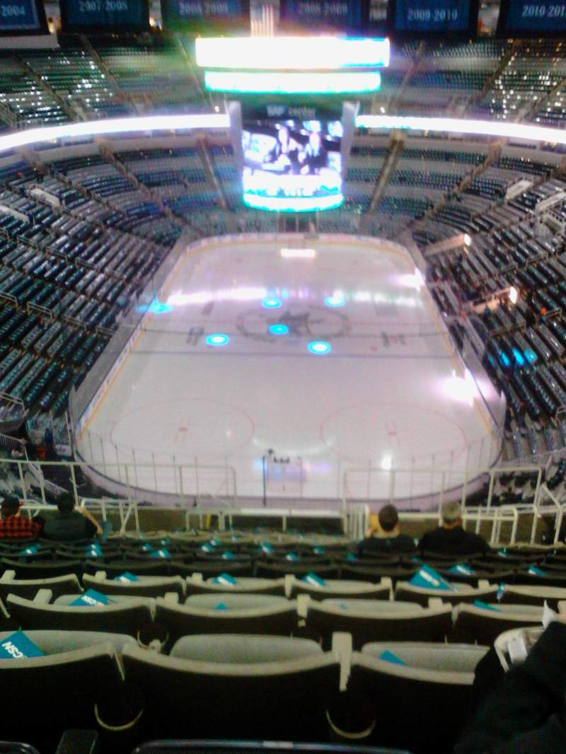 Seating view for SAP Center Section 208 Row 16 Seat 9