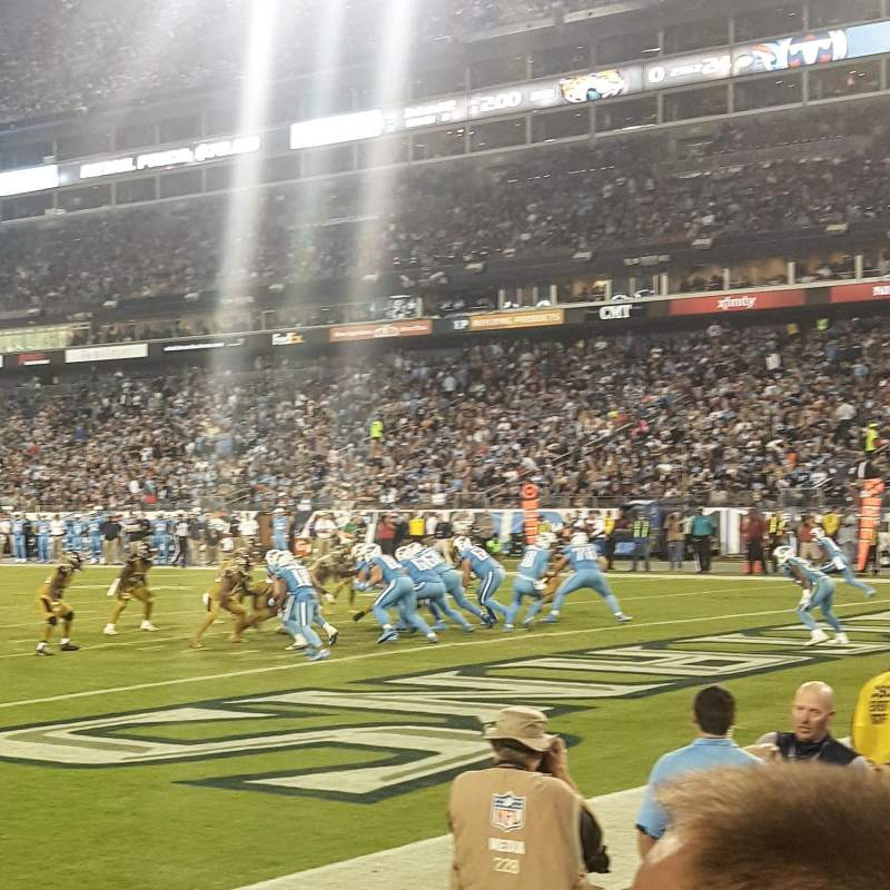 Seating view for Nissan Stadium Section 103 Row B Seat 6