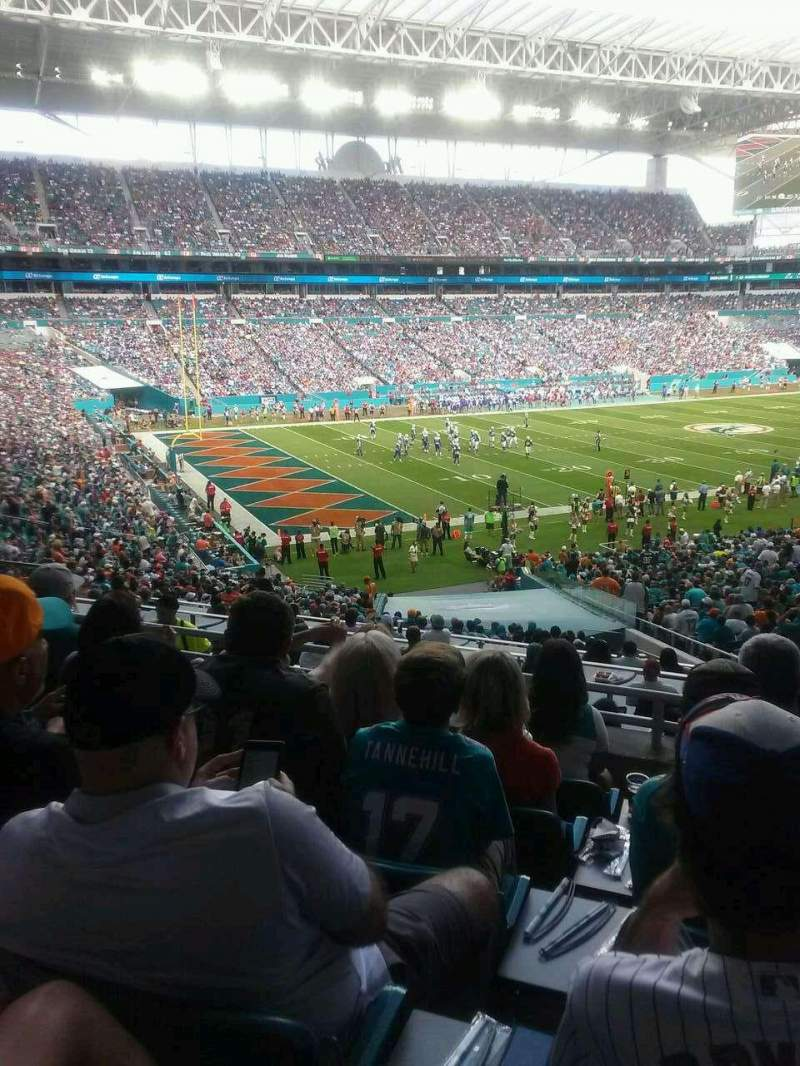 Seating view for Hard Rock Stadium Section 252 Row 6 Seat 16