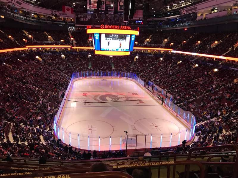 Seating view for Rogers Arena Section 301 Row 7 Seat 101