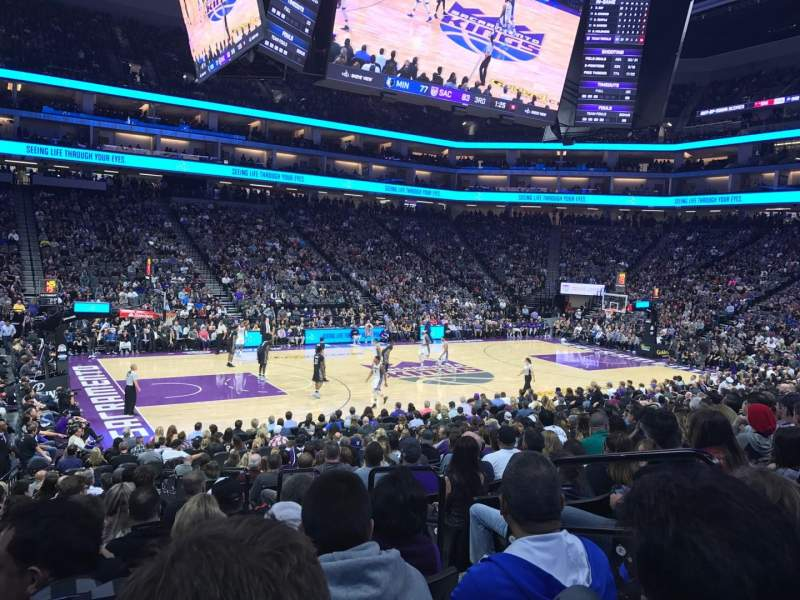 Seating view for Golden 1 Center Section 122 Row H Seat 4