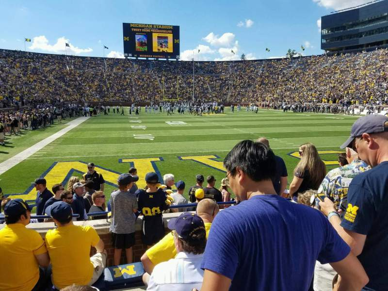 Seating view for Michigan Stadium Section 35 Row 4 Seat 1