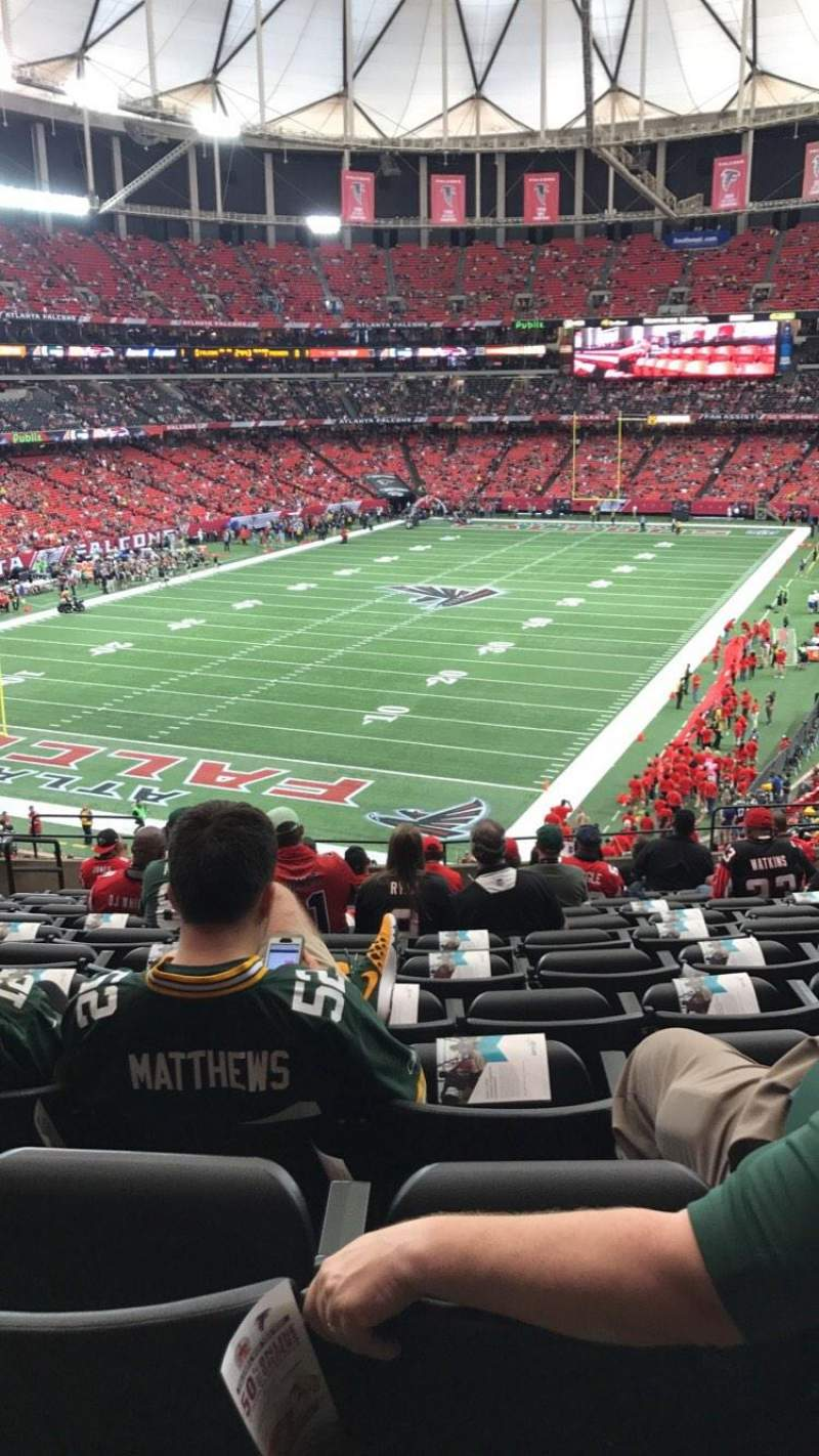 Seating view for Georgia Dome Section 205 Row 14 Seat 5