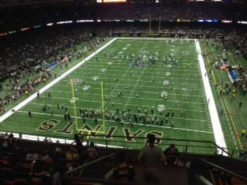 Photos of the new orleans saints at mercedes benz superdome for View from my seat mercedes benz stadium
