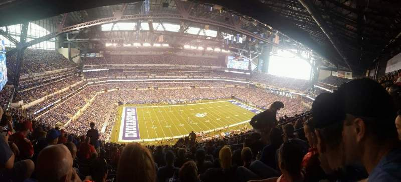 Seating view for Lucas Oil Stadium Section 617 Row 17 Seat 6