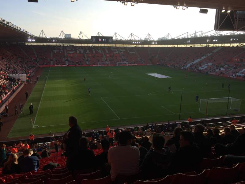 Seating view for St Mary's Stadium Section 45 Row KK Seat 1176