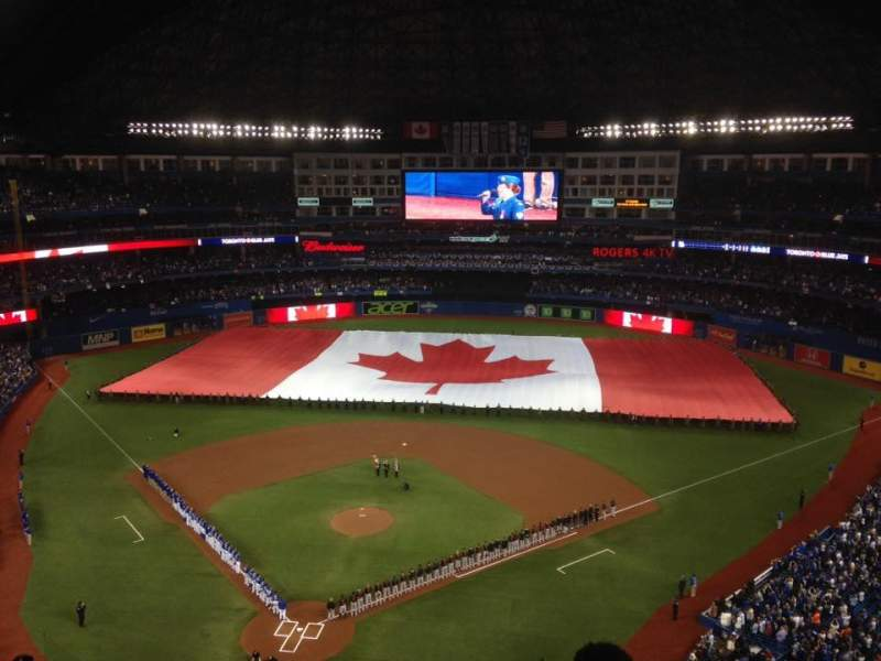 Seating view for Rogers Centre Section 523R Row 16 Seat 1
