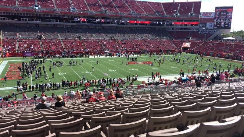 Seating view for Raymond James Stadium Section 207 Row W Seat 10