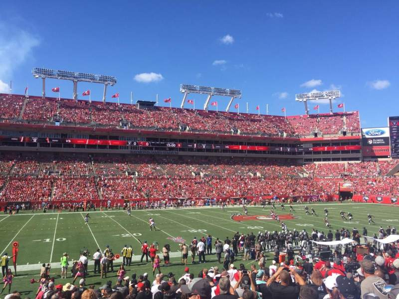 Seating view for Raymond James Stadium Section 133 Row X Seat 5