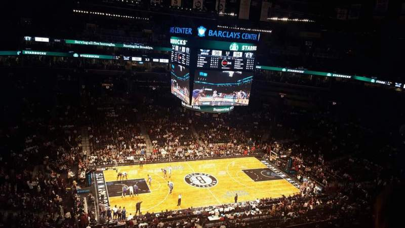 Seating view for Barclays Center Section 210 Row 5 Seat 6