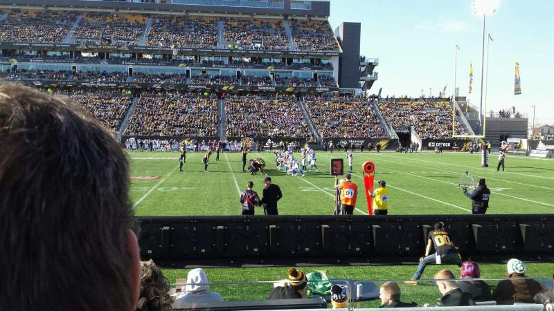 Seating view for Tim Hortons Field Section 114 Row 3 Seat 31