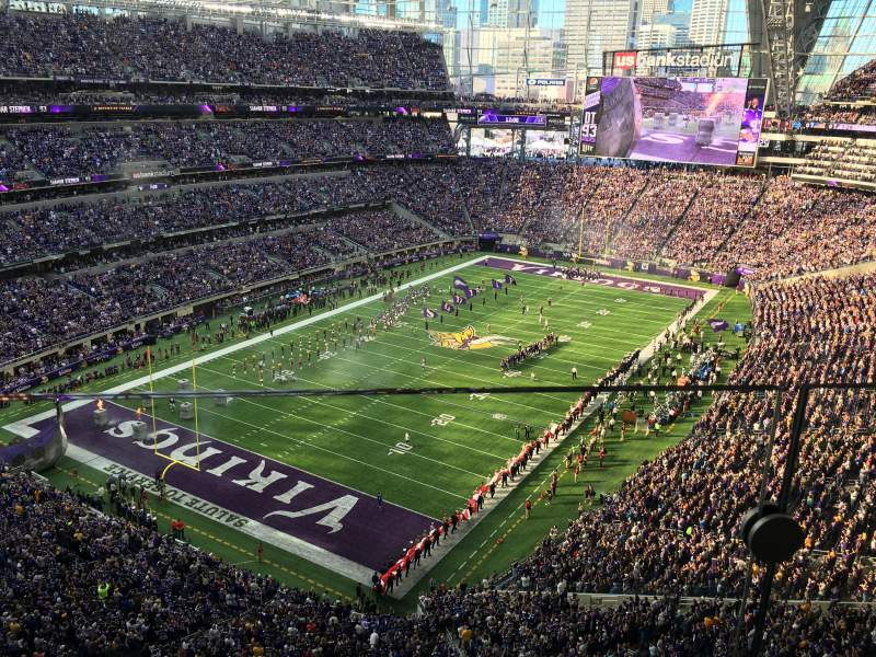 Seating view for U.S. Bank Stadium Section 321 Row 1 Seat 8