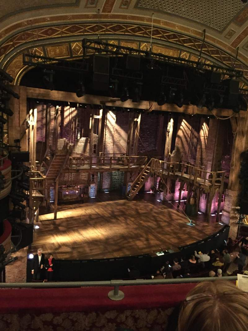 Seating view for Richard Rodgers Theatre Section Front Mezzanine L Row C Seat 17
