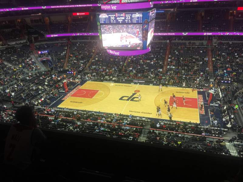 Seating view for Verizon Center Section 418 Row C Seat 10