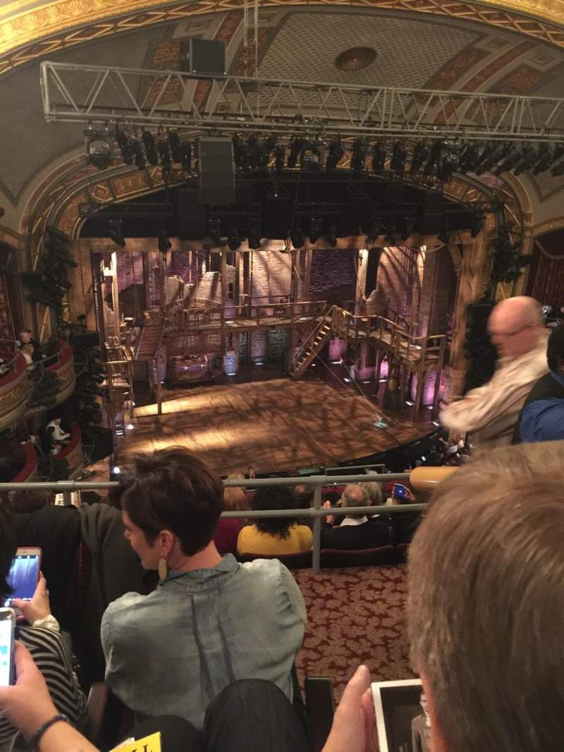 Seating view for Richard Rodgers Theatre Section Rear Mezz Row C Seat 15