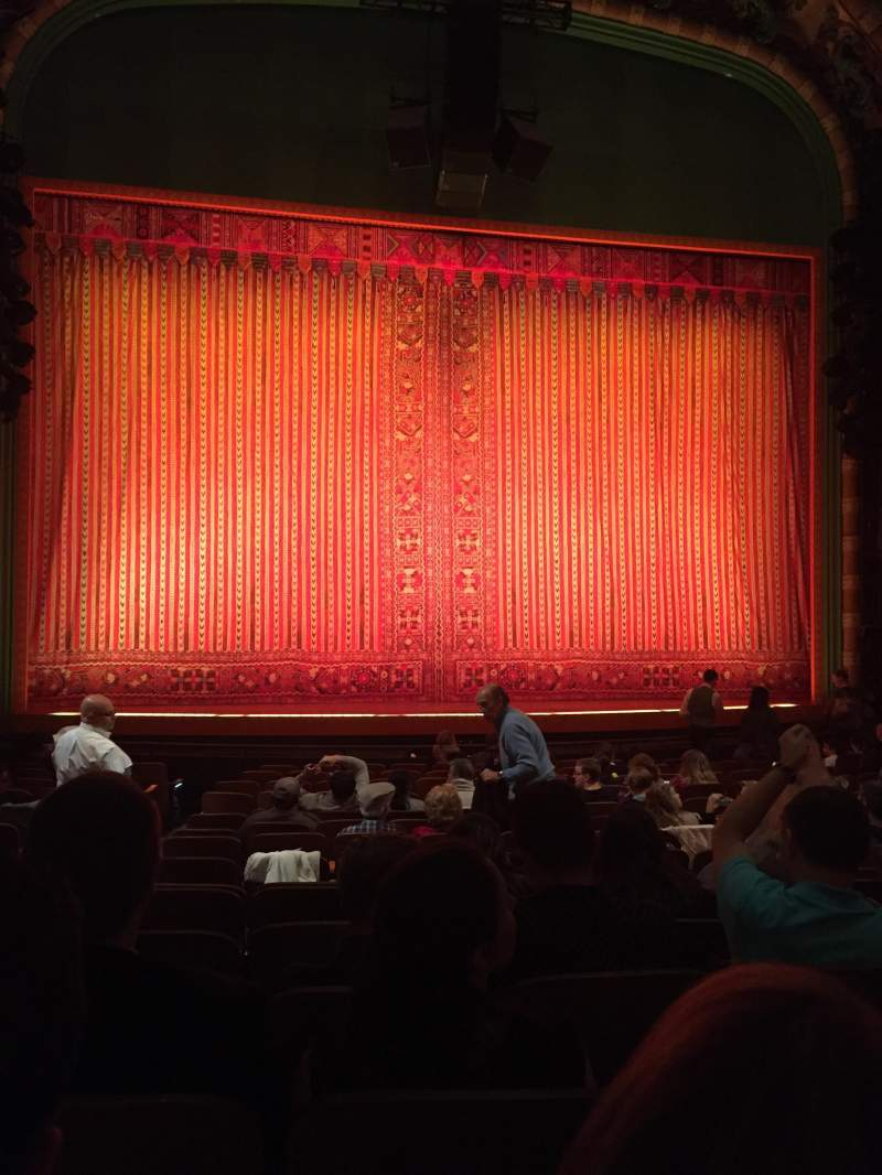 Seating view for New Amsterdam Theatre Section Orch Row Q Seat 115
