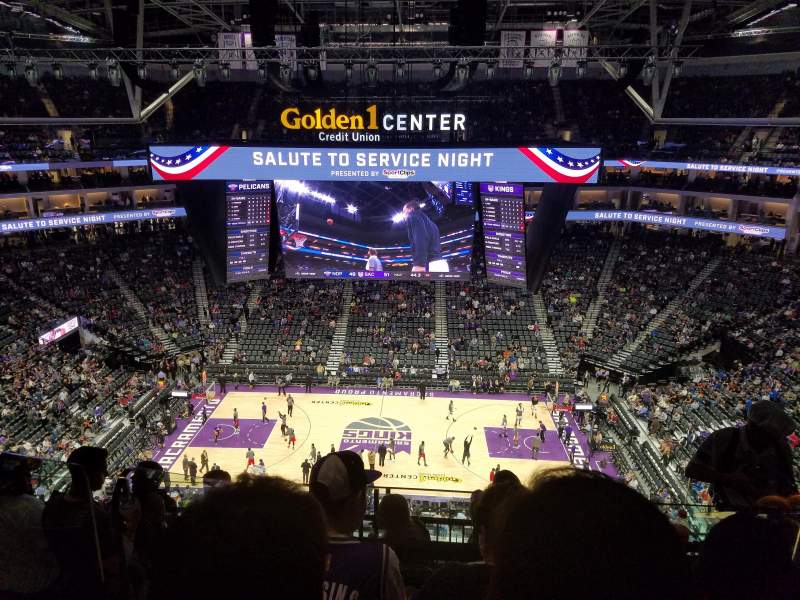 Seating view for Golden 1 Center Section 205 Row G Seat 4