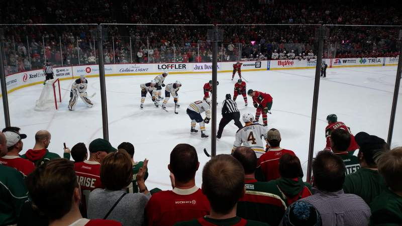 Seating view for Xcel Energy Center Section 106 Row 6 Seat 7