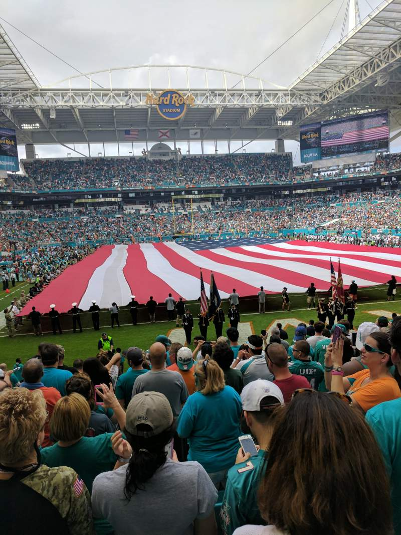 Seating view for Hard Rock Stadium Section 133 Row 11 Seat 22