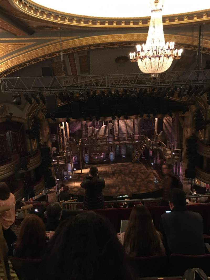 Seating view for Richard Rodgers Theatre Section Rear Mezzanine r Row E Seat 22