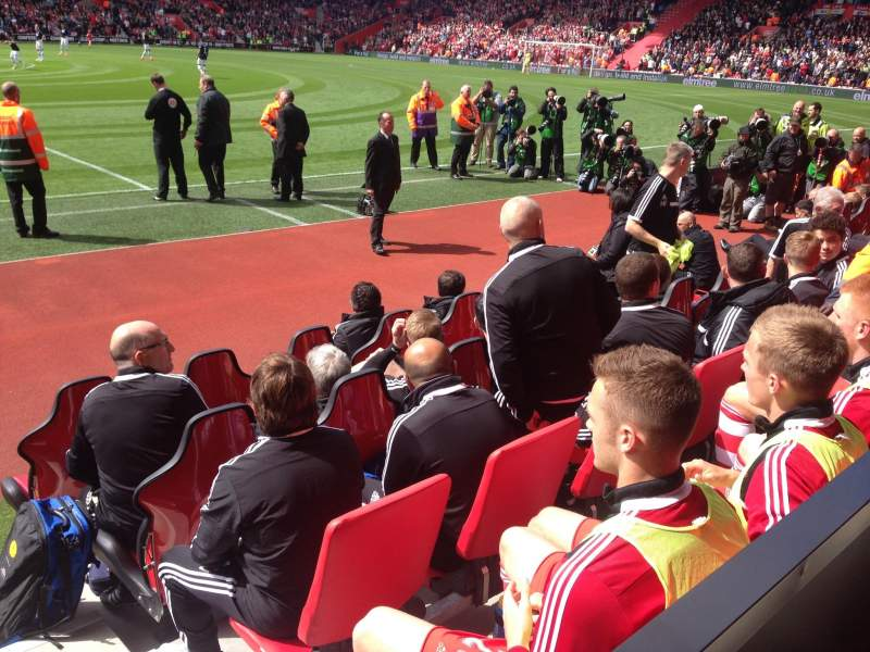 Seating view for St Mary's Stadium Section 7 Row L