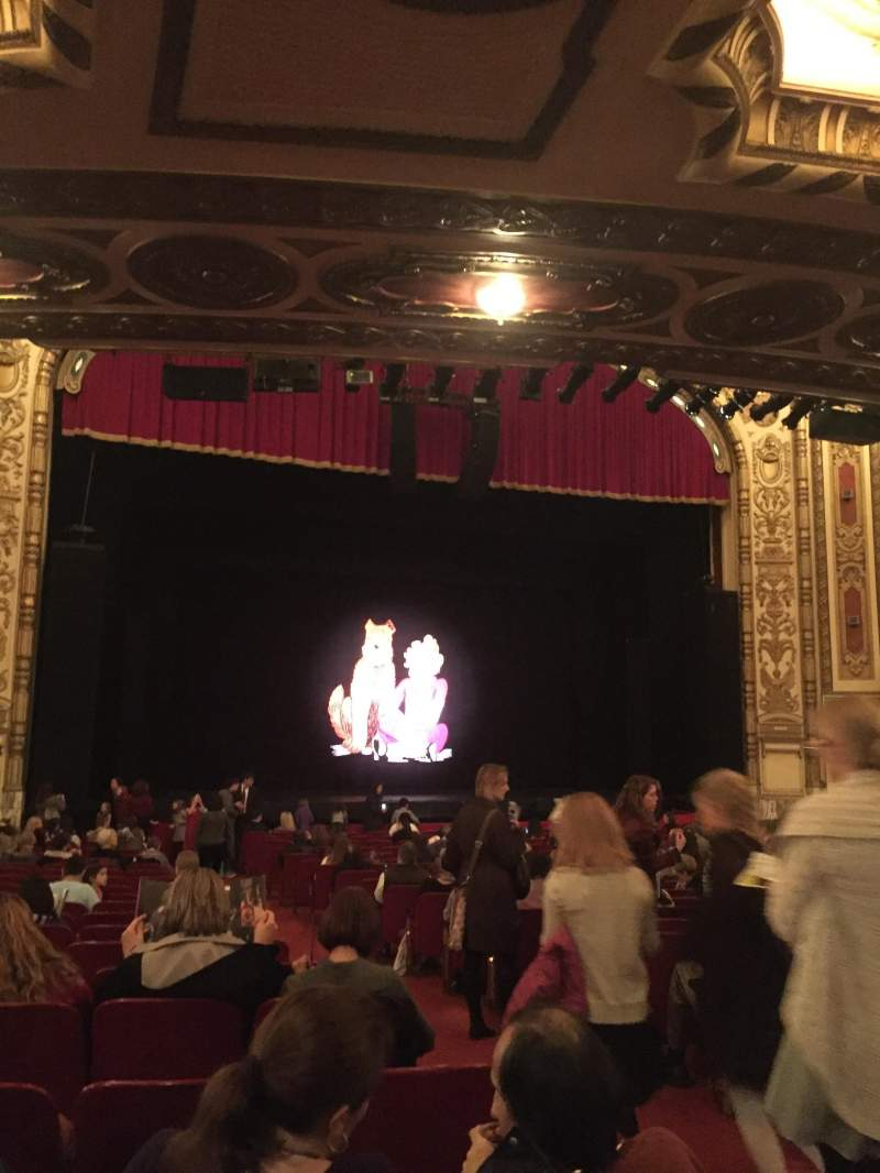 Seating view for Cadillac Palace Theater Section Orchestra L Row V Seat 3