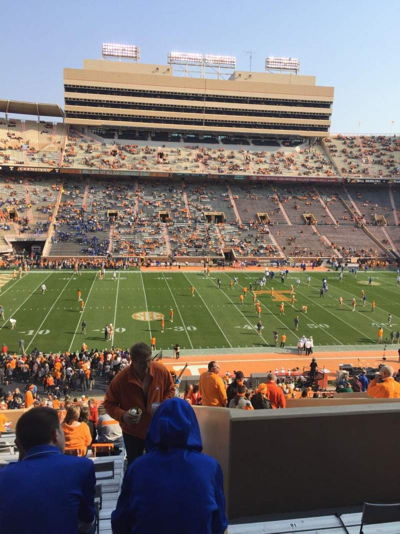 Seating view for Neyland Stadium Section V Row 48 Seat 20