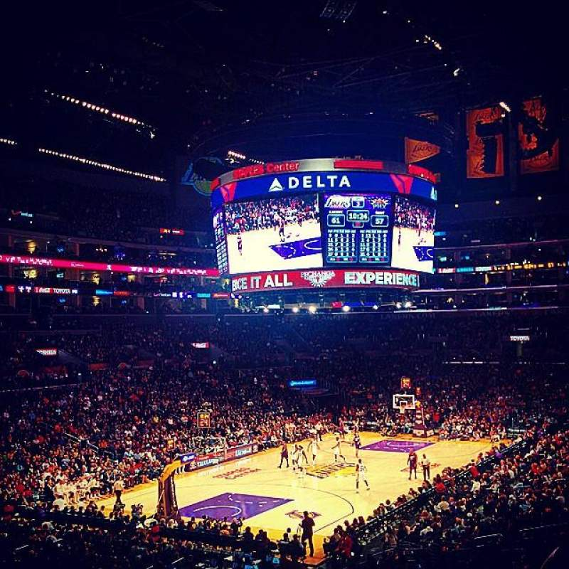 Seating view for Staples Center Section 214 Row 8 Seat 10