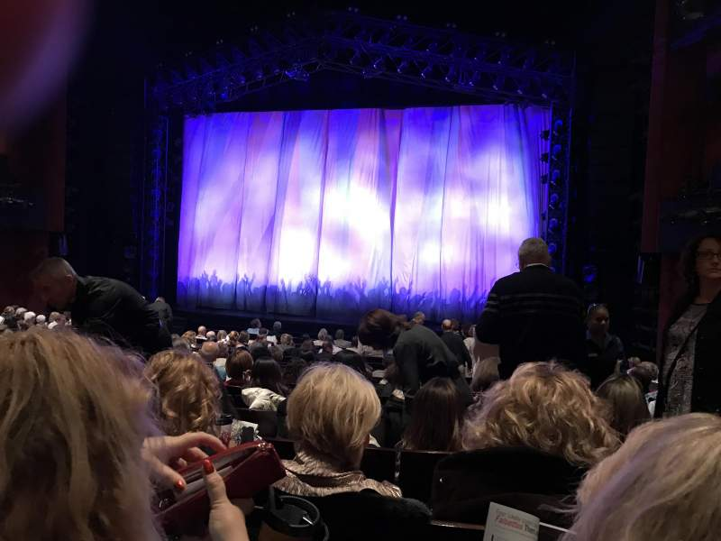 Seating view for Marquis Theatre Section Orchestra Center Row R Seat 124