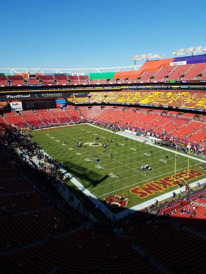 Seating view for FedEx Field Section 446 Row 1 Seat 1