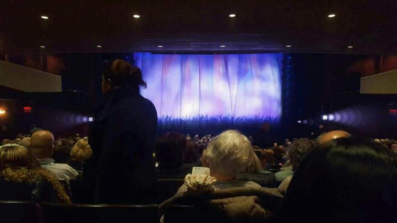 Seating view for Marquis Theatre Section Orchestra C Row X Seat 112