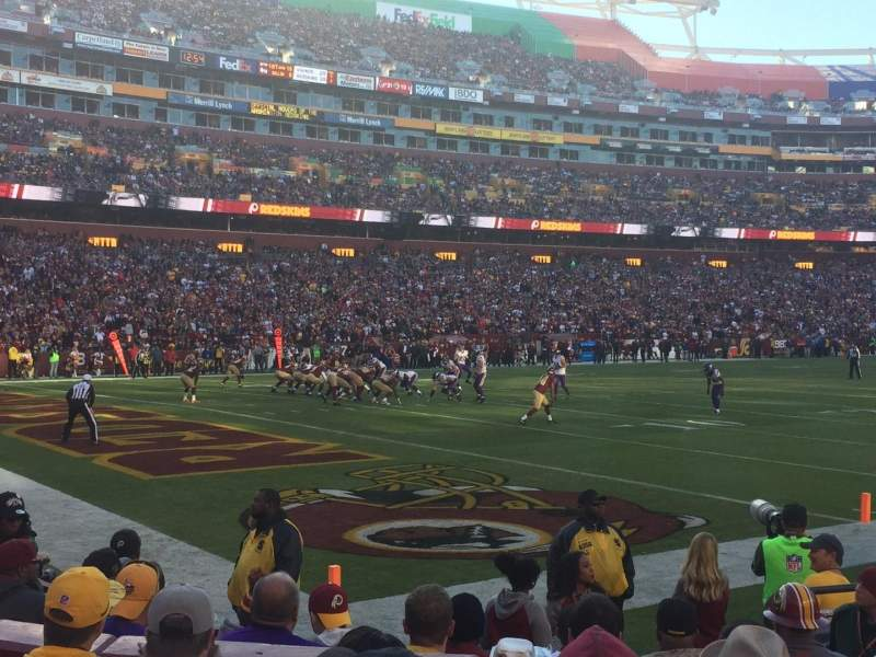 Seating view for FedEx Field Section 127 Row 5 Seat 9