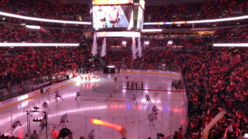 Seating view for Capital One Arena Section 107 Row V Seat 1
