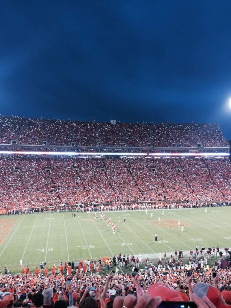 Seating view for Memorial Stadium, Clemson Section UM Row O Seat 13