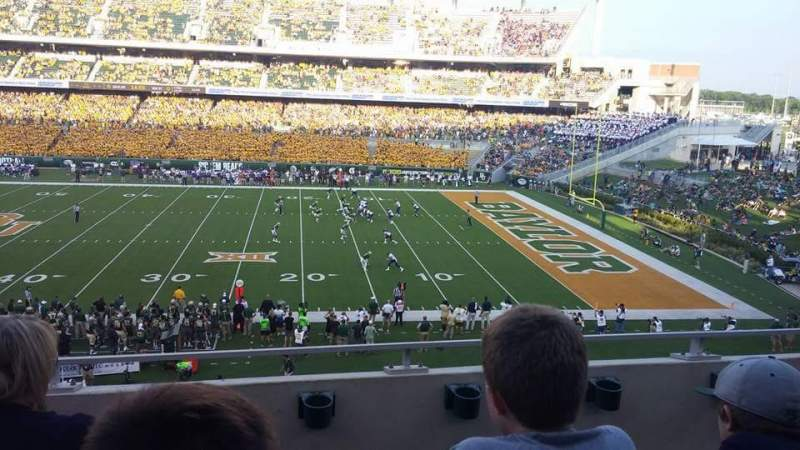Seating view for McLane Stadium Section 303