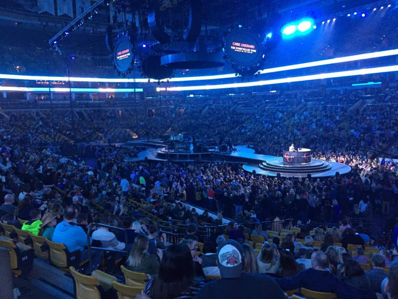 Seating view for TD Garden Section Loge 9 Row 19