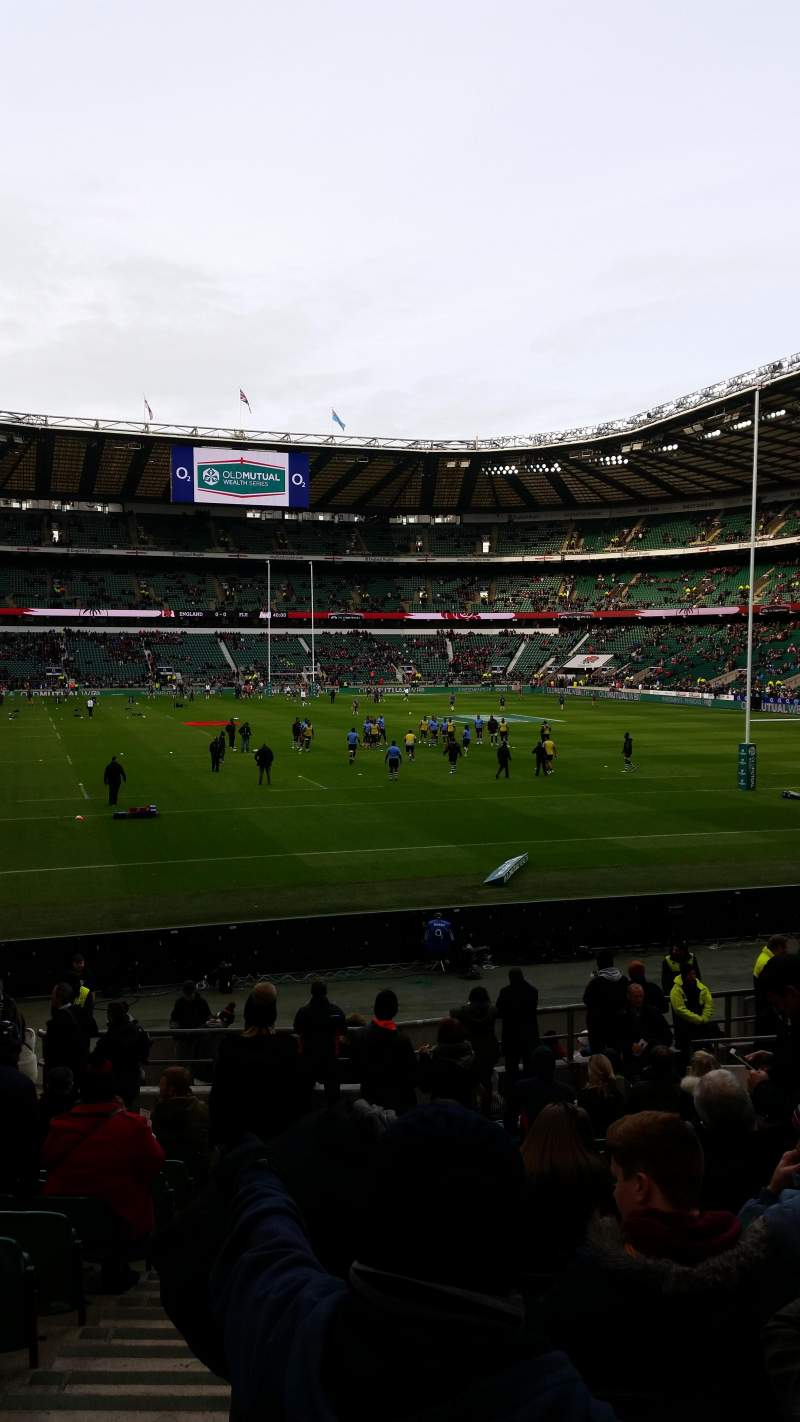 Seating view for Twickenham Stadium Section L35 Row 22 Seat 238