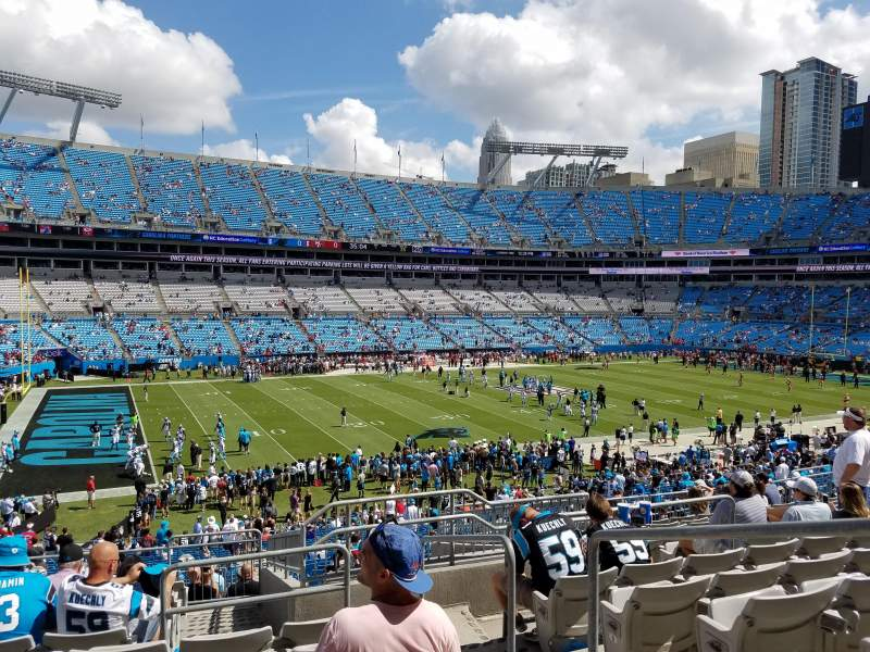 Seating view for Bank of America Stadium Section 348 Row 12 Seat 2