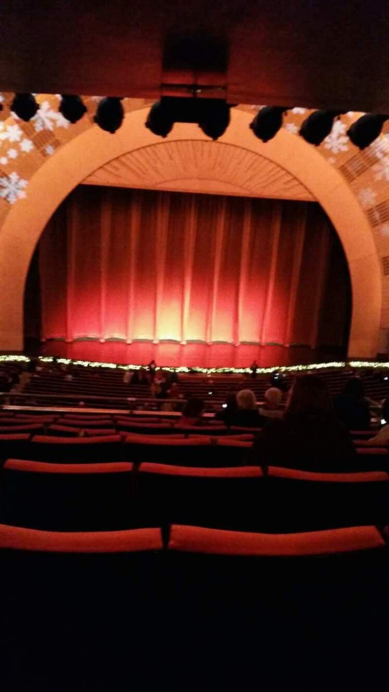 Seating view for Radio City Music Hall Section 1st Mezzanine 5 Row h Seat 512