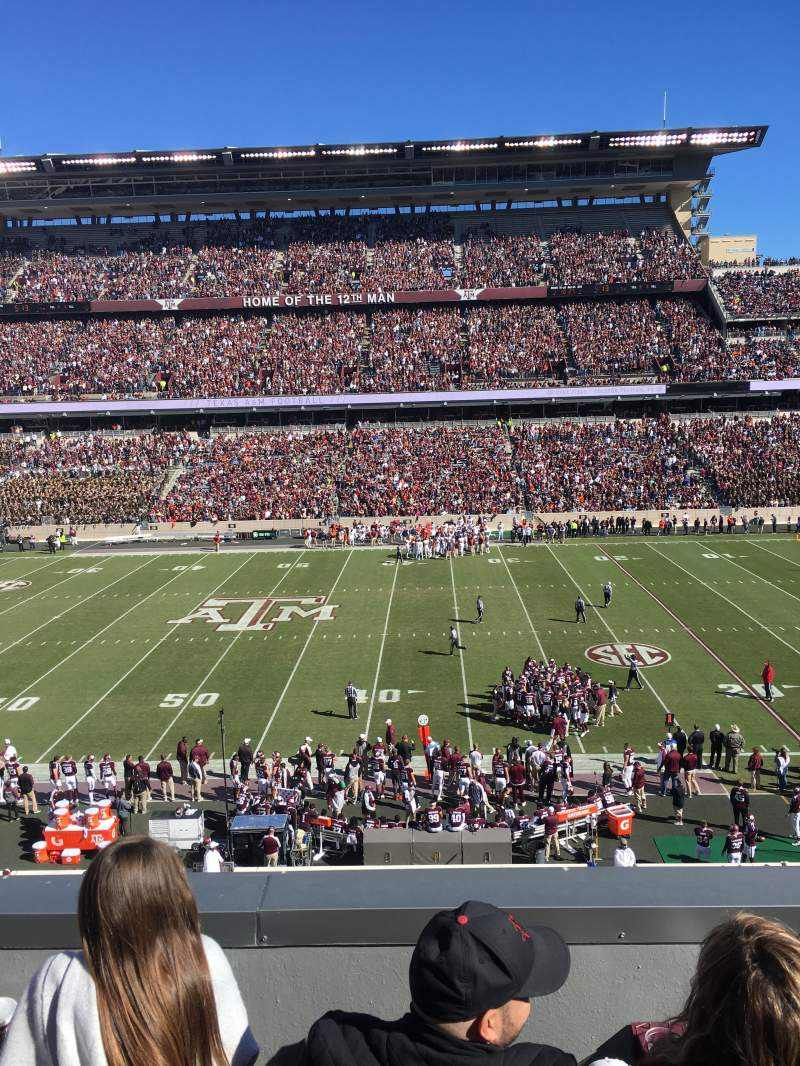 Seating view for Kyle Field Section LC5