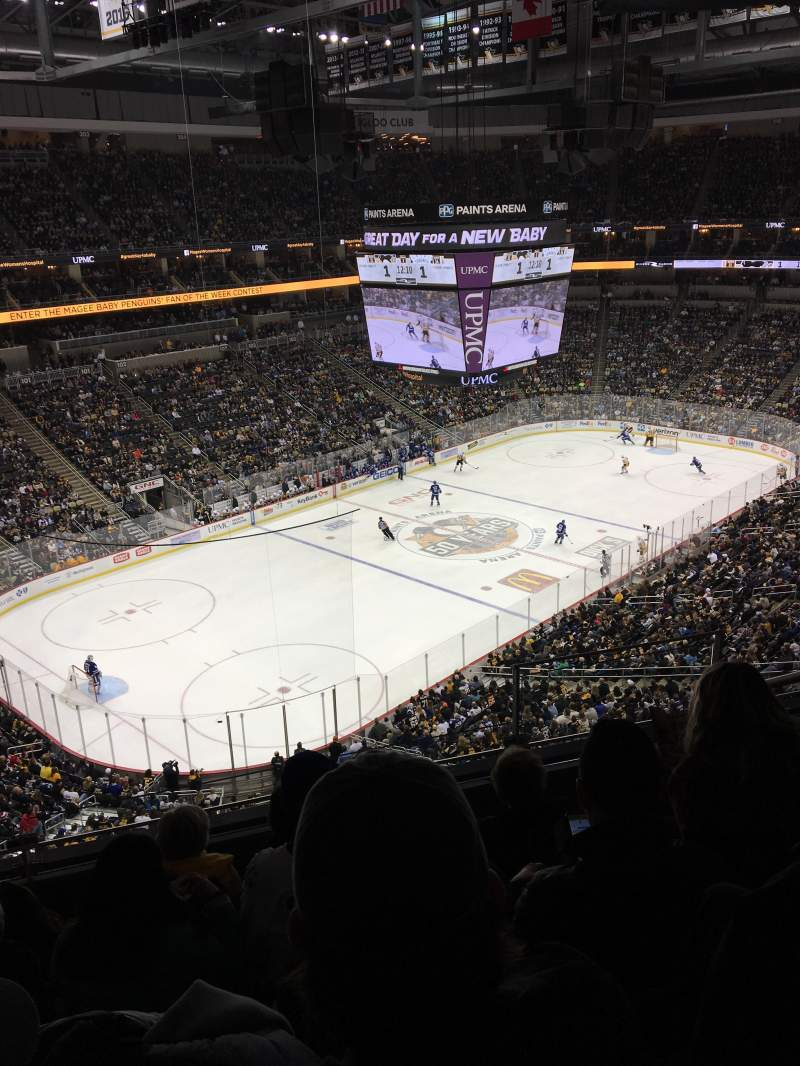 Ppg paints arena section 224 row e seat 24 pittsburgh for Hotels close to ppg paints arena
