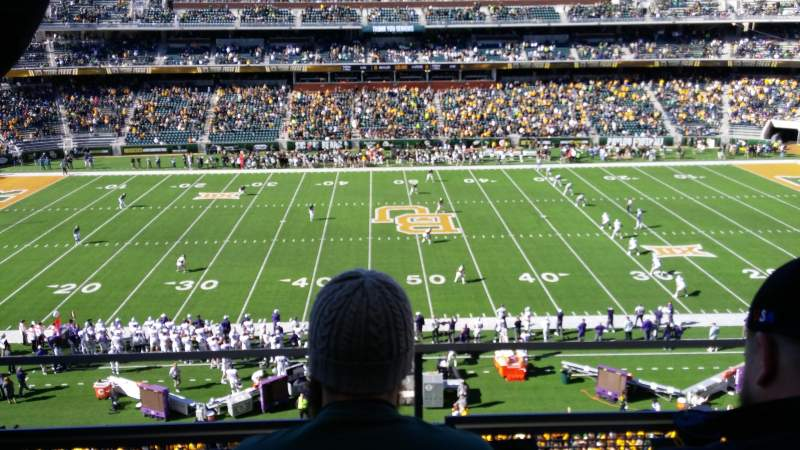 Seating view for McLane Stadium Section 324 Row 2 Seat 23