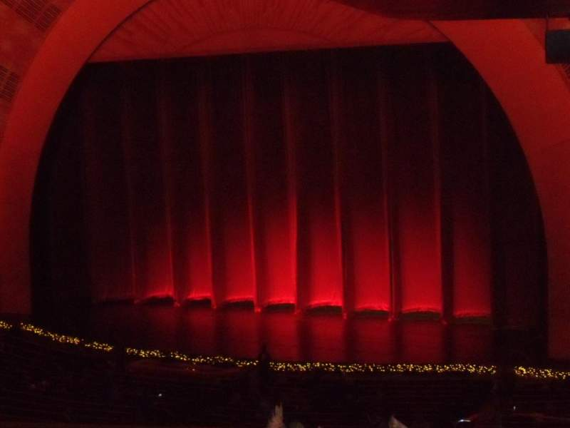 Seating view for Radio City Music Hall Section 1st Mezzanine 1 Row J Seat 110