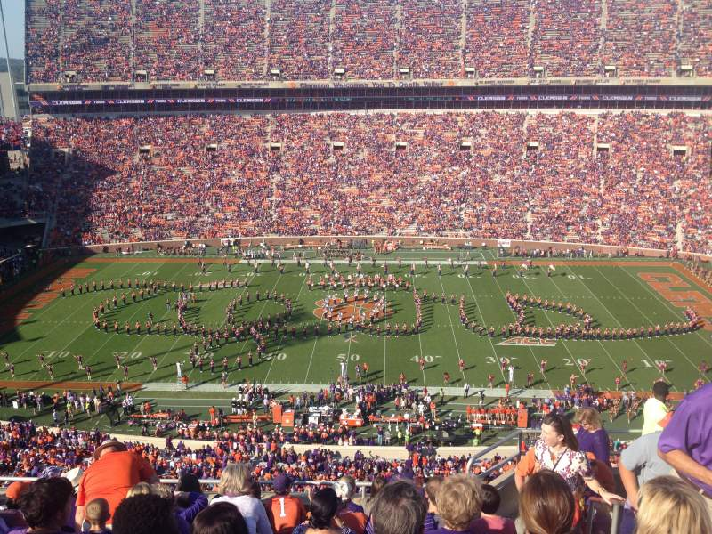 Seating view for Memorial Stadium, Clemson Section TDE Row G Seat 5-7